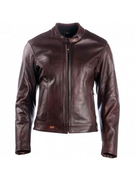 DXR lady leather jacket Charlize brown
