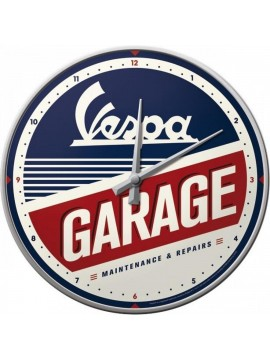 "Nostalgic-Art clock ""Vespa  Garage"""