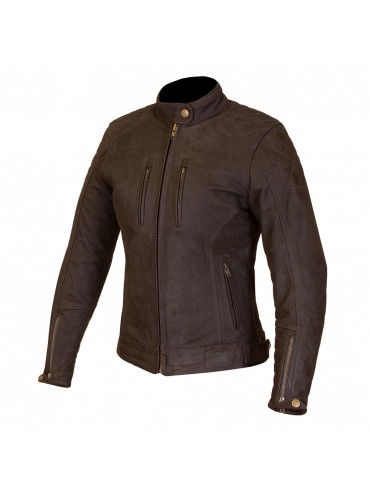 MERLIN Mia lady leather jacket brown
