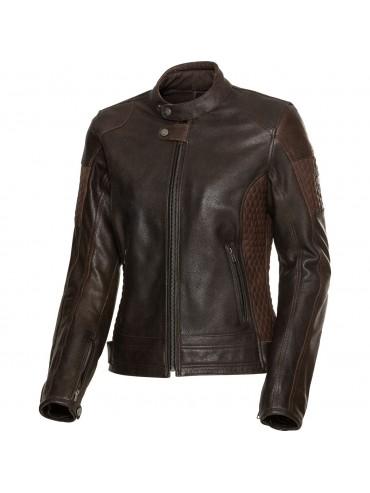 SPIRIT MOTORS lady leather jacket 1.0 brown