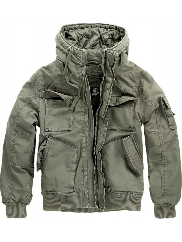 Brandit jacket with hood Bronx olive