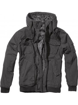 Brandit jacket with hood Bronx black
