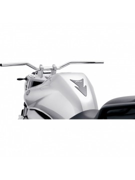 Hi-Q Superbike aluminium handlebar flat and wide silver