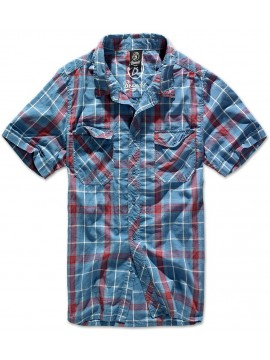 Brandit camisa ROADSTAR_red-blue
