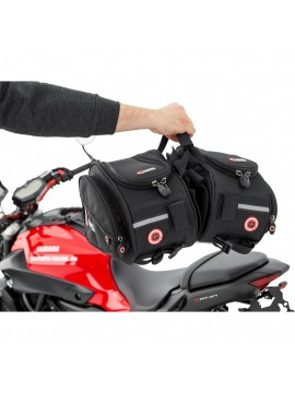 QBAG SEAT BAG SET 02 OVAL BLACK 22 LITERS STORAGE SPACE