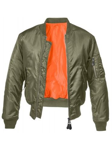 Brandit blusão Bomber MA1 verde
