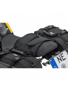 QBag 04 : Conjunto malas traseiras com cobertura rígida.