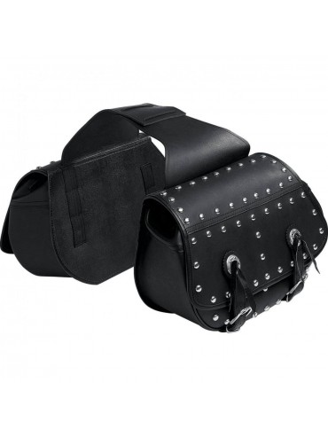 QBag leather saddle bag with rivets 09
