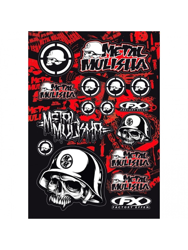 Büse set de autocolantes FX-Sticker Metal Mulisha