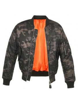 Brandit blusão Bomber MA1 darkcamo
