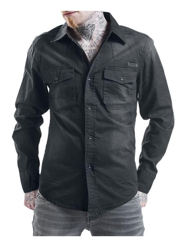 Brandit denim shirt HARDEE_black