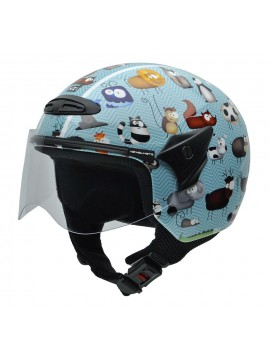 NZI casco jet  junior Helix ANIMALS