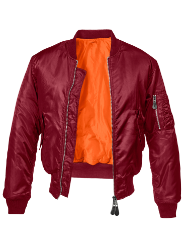 Brandit blusão Bomber MA1 burgundy