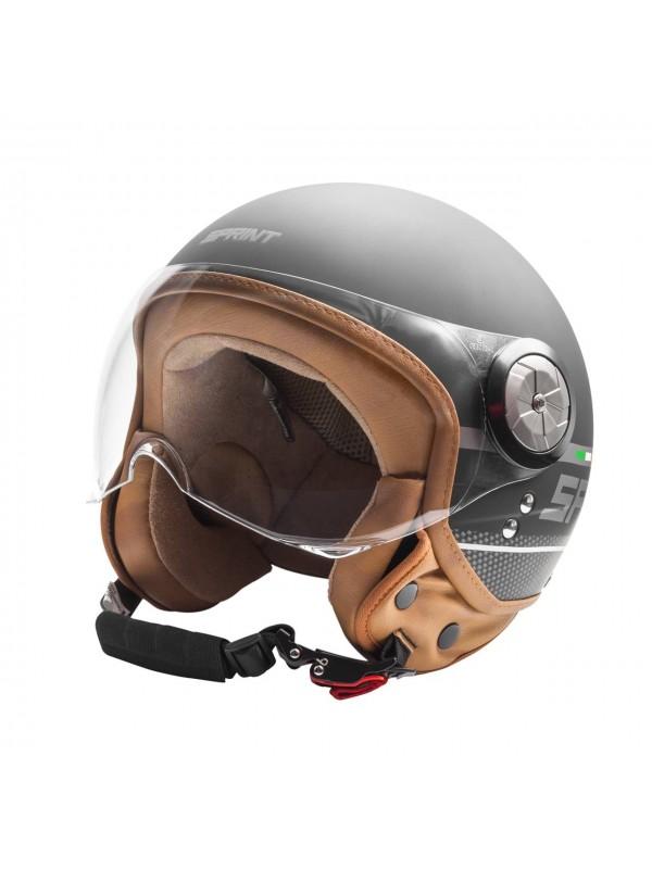 SPRINT capacete jet CITY preto