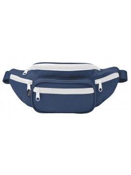 Brandit waist belt bag navy/white