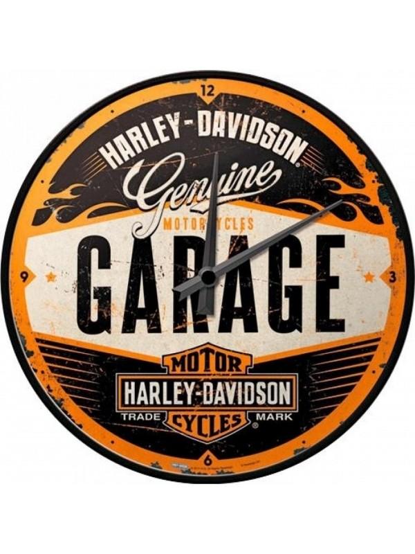 """Nostalgic-Art relógio """"Harley-Davidson Garage"""""""