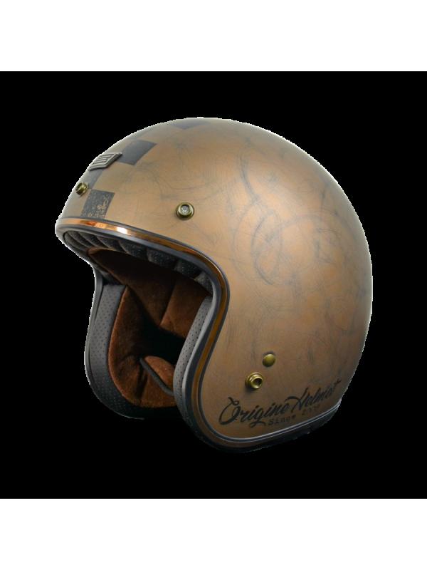 ORIGINE capacete jet Primo Scacco Brown