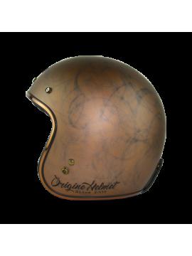 ORIGINE jet helmet Primo Scacco Brown-1