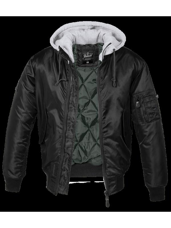 BRANDIT jacket whit hood MA1