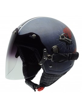 NZI capacete jet Tonup Live To Ride