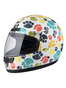 NZI full face helmet Activity Jr Pawprints