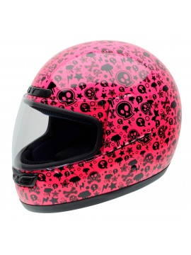 NZI full face helmet Activity Jr Pink Bones