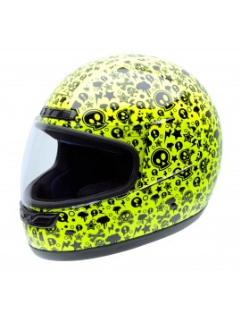 NZI full face helmet Activity Jr Yellow Bones_1
