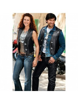 Spirit Motors Concho leather vest 1.0_1